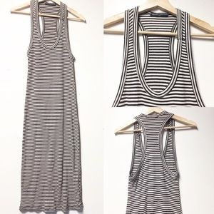Brandy Melville Black & White Striped Tank Maxi S